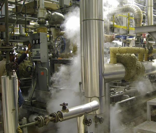 Adjustment of steam parameters